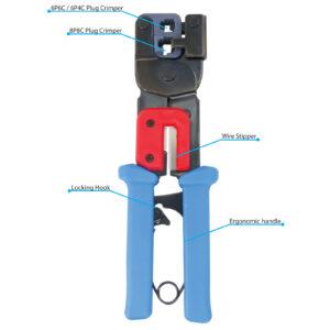 RJ45, RJ12 Modular Plug Crimping Tool for 8p8c, 6p6c, 6p4c
