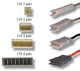 RJ45 to 110 4 pair cables